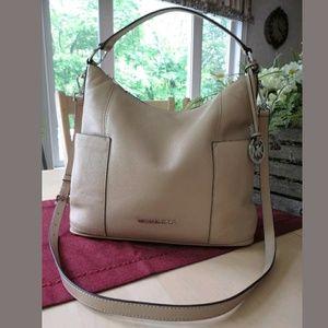 NEW! MICHAEL KORS Large Convertible Leather Bag